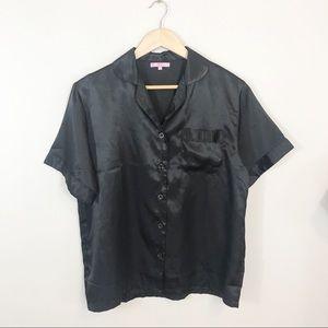 Lavenderi Black Silky Pajama Top